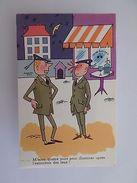 1950s ORIGINAL COMIC ART POSTCARD HUMOR FRANCE ARMY SOLDIER SOLDIERS Z1 - Comics