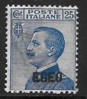 Italy,Aegean Islands General, Scott # 1 Mint Hinged Italy Stamp Overprinted EGEO, 1912 - Aegean