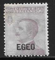 Italy,Aegean Islands General, Scott # 2 Mint Hinged Italy Stamp Overprinted EGEO, 1912 - Aegean