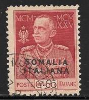 Somalia, Scott # 67a Perf 11 Used Victor Emmanuel Lll, 1925, CV$375.00 - Aegean