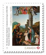 2017 Canada Christmas The Adoration Of The Shepherds Single Stamp From Booklet MNH - Carnets