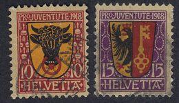 SVIZZERA - 1918 - Serie Completa Usata Yvert 168/169. Pro Juventute. - Pro Juventute