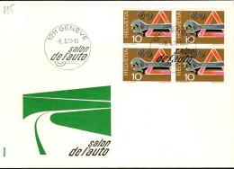 Suisse Poste Obl Yv: 895 Yv:0,6 Euro Salon De L'auto Genève (TB Cachet à Date) - Switzerland