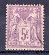 N° 95 SAGE 5f VIOLET SUR LILAS +++ COTE 100 € +++ - 1876-1898 Sage (Type II)