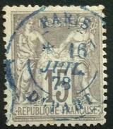 77-202 N°77 IIB Paris Départ Bleu 16/7/1878 - Marcophilie (Timbres Détachés)