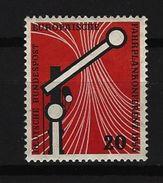 BUND Mi-Nr. 219 Europäische Fahrplankonferenz Wiesbaden Postfrisch - [7] République Fédérale