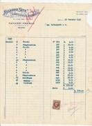 7272.   Fattura Assaggio Sete Greggie E Lavorate Ed Altre Fibre Tessili Di Tavazzi Franco - Milano 1937 - Italia