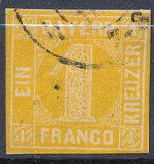 Stamp Bavaria 1862 1kr Used Lot #1 - Beieren