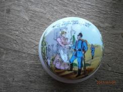 Porcelaine Patriotique Allemande Ww1 , Petite Boite - 1914-18