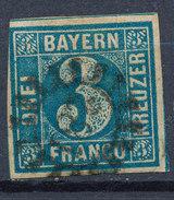 Stamp Bavaria 1849 3kr Used Lot #22 - Bavaria