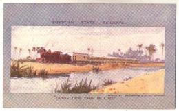 (Egypte) 219, Egytian State Railways, Ballantyne & Cie, Cairo-Luxor Train De Luxe - Egypt