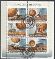 Isole Comore 2008 Marte Sonde Spirit Mars Polar Viking Climate Phoenix Sojourner CTO Union Des Comores Space - Isole Comore (1975-...)