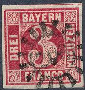 Stamp Bavaria 1862 3kr Used Lot #43 - Bayern