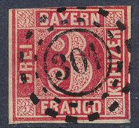 Stamp Bavaria 1862 3kr Used Lot #44 - Bavière