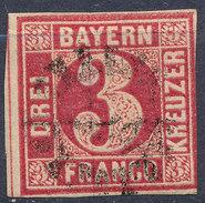 Stamp Bavaria 1862 3kr Used Lot #56 - Bavaria