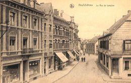 Neufchâteau - La Rue De Longlier (animée, Café, Coiffeur, Voitures D'enfant En Vitrine...1927) - Neufchâteau