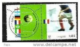 2002-N°3483/3484** FOOTBALL.CHAMPIONS DU MONDE - Nuovi
