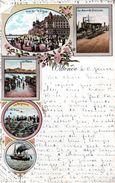 OOSTENDE - OSTENDE : Verschillende Zichten - Vues Diverses / Kleurkaart - Carte En Couleur 1902 - Oostende