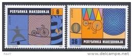EUROPA -CEPT 2002 - Macedoine - 2 Val NEUF ** (MNH) LE CIRQUE - Europa-CEPT
