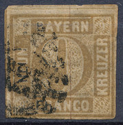 Stamp Bavaria 1862 9kr Used Lot #86 - Bavaria