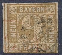 Stamp Bavaria 1862 9kr Used Lot #88 - Bavaria