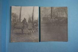 4 Photos De Flers D'un Soldat Allemand En 1915 Et La Lettre Qui Les Accompagnait - Guerre, Militaire