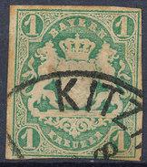 Stamp Bavaria 1867 1kr Used Lot #1 - Bavaria