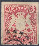 Stamp Bavaria 1867 3kr Used Lot #7 - Bavaria