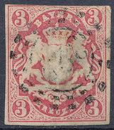 Stamp Bavaria 1867 3kr Used Lot #9 - Bavaria