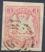 Stamp Bavaria 1867 3kr Used Lot #11 - Bavaria