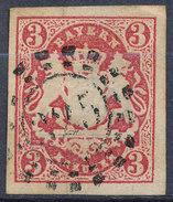 Stamp Bavaria 1867 3kr Used Lot #12 - Bavaria