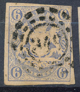 Stamp Bavaria 1867 6kr Used Lot #13 - Bavaria
