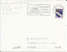 ARIEGE 09  -   - LAVELANET  -  FLAMME N° 1302   - VOIR DESCRIPTION -  1963 -  TIMBRE N° 1353 TARIF 1 1 60 IMPRIME - Postmark Collection (Covers)