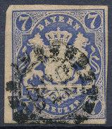 Stamp Bavaria 1867 7kr Used Lot #17 - Bavaria
