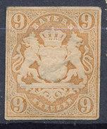 Stamp Bavaria 1867 9kr Mint Lot #19 - Beieren