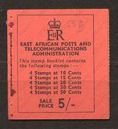 Kenya, Uganda & Tanganyika, Yvert Carnet 109, SG SB9, MNH - Kenya, Uganda & Tanganyika