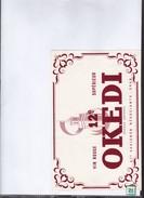 Buvard  Vin   Rouge  Okedi     Négociants -Oran - Buvards, Protège-cahiers Illustrés