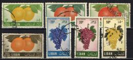 LIBANO - 1955 - FRUTTA - USATI - Libano
