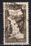 LIBANO - 1945 - CASCATE DI LITANI - USATO - Libano
