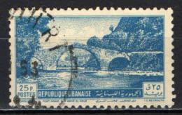 LIBANO - 1950 - ANTICO PONTE ARABO SUL NAHR EL KELB - USATO - Lebanon