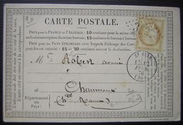 1876 Saint Blin (haute Marne) GC 3527 Sur Carte Précurseur - 1849-1876: Periodo Clásico