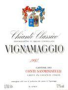 1458 - Italie - Greve In Chianti - 1981 - Chianti Classico - Vignamaggio - Conti Sanminiatelli Greve In Chianti - Rode Wijn