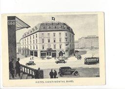 17959 - Basel Hotel Continental Bahnhof  ( Format 10 X 15) Pli - BS Bâle-Ville