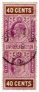 (I.B) Ceylon Telegraphs : 40c (Colombo) - Ceylon (...-1947)