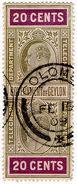 (I.B) Ceylon Telegraphs : 20c (Colombo) - Ceylon (...-1947)
