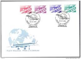 1992. Moldova, Air-mail  Post I, FDC, Mint/** - Moldova