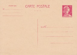 Entier Postal Marianne De Muller - Standard Postcards & Stamped On Demand (before 1995)