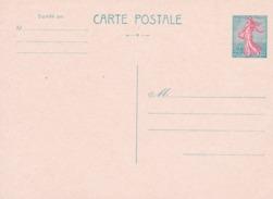 Entier Postal Semeuse - Standard Postcards & Stamped On Demand (before 1995)