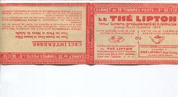 CARNET PUB 199 C 28 Série 173 THE LIPTON FALIERES SHYB ANNALES SHYB EN L ETAT COMPLET Mais Une Partie Détachée - Booklets