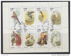 Oman 1973 Birds 8v In Sheetlet Used (F5127) - Oman